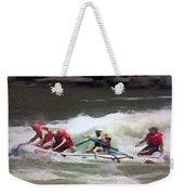Whitewater Rafting Weekender Tote Bag