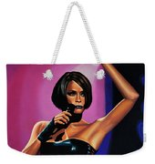 Whitney Houston On Stage Weekender Tote Bag
