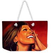 Whitney Houston Weekender Tote Bag by Paul Meijering