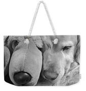 Who Has The Biggest Nose Golden Retriever Dog  Weekender Tote Bag