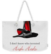 Who Invented High Heels? Weekender Tote Bag