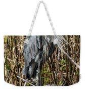 Who Is There - Great Blue Heron Weekender Tote Bag