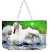 Whooper Swan Flutter Weekender Tote Bag