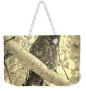 Who's Watching - Sepia Weekender Tote Bag
