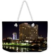 Wichita Hyatt Along The Arkansas River Weekender Tote Bag