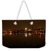 Wide Shot Of The City Skyline Weekender Tote Bag