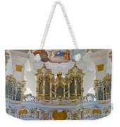 Wieskirche Pipe Organ Weekender Tote Bag
