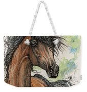 Wieza Wiatrow Polish Arabian Mare Watercolor Painting  Weekender Tote Bag