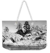 Willow Lake Number One Bw Weekender Tote Bag by Heather Kirk