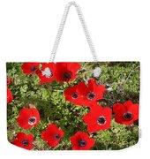 Wild Anemone Flowers In A Spring Field  Weekender Tote Bag