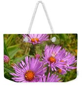 Wild Asters Weekender Tote Bag