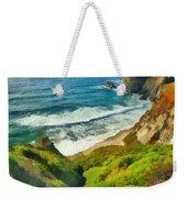 Wild Beach Weekender Tote Bag