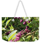 Wild Beautyberry Bush Weekender Tote Bag