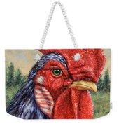 Wild Blue Rooster Weekender Tote Bag