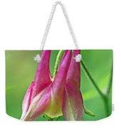 Wild Columbine Wildflower - Aquilegia Canadensis Weekender Tote Bag