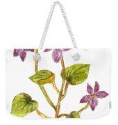 Wild Dog Violet Weekender Tote Bag