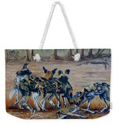 Wild Dogs After The Chase Weekender Tote Bag