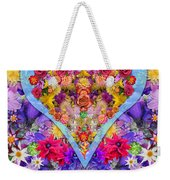 Wild Flower Heart Weekender Tote Bag by Alixandra Mullins