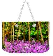 Wild Forest Violets Weekender Tote Bag