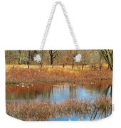 Wild Geese On The Farm Weekender Tote Bag