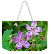 Wild Geranium On Trail To Swan Lake In Grand Teton National Park-wyoming Weekender Tote Bag