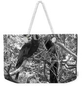 Wild Hawaiian Parrot Black And White Weekender Tote Bag