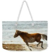 Wild Horse Running Through Water Weekender Tote Bag