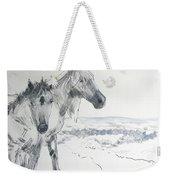 Wild Horses Drawing Weekender Tote Bag