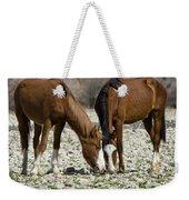 Wild Horses Grazing  Weekender Tote Bag