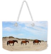 Wild Horses Of Corolla - Outer Banks Obx Weekender Tote Bag