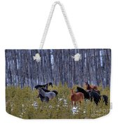 Wild Horses Of The Ghost Forest Weekender Tote Bag