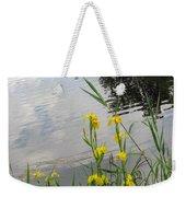 Wild Iris By The Pond Weekender Tote Bag by Ausra Huntington nee Paulauskaite