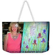 Wild Iris Collage At Glasshopper Gifts Show Weekender Tote Bag