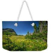 Wild Mountain Flowers Glacier National Park   Weekender Tote Bag