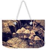 Wild Mushrooms Weekender Tote Bag by Amanda Elwell