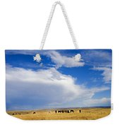 Wild Mustang Herd Grazing Weekender Tote Bag