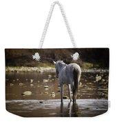 Wild Mustang On The River  Weekender Tote Bag