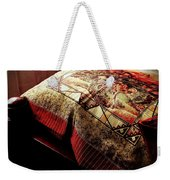 Wild Mustangs On A Quilt Weekender Tote Bag by Barbara Griffin