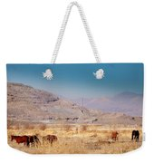 Wild Nevada Mustang Herd Weekender Tote Bag