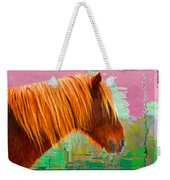 Wild Pony Abstract Weekender Tote Bag