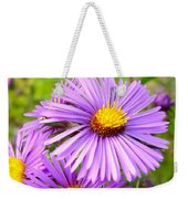 Wild Purple Asters Weekender Tote Bag