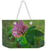 Wild Red Clover Blossom Weekender Tote Bag
