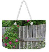 Wild Roses And Weathered Fence Weekender Tote Bag