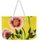Wild Roses On Yellow Weekender Tote Bag