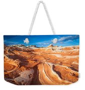 Wild Sandstone Landscape Weekender Tote Bag by Inge Johnsson