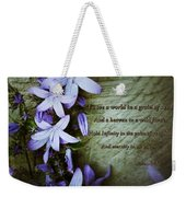 Wild Star Flowers And Innocence  Weekender Tote Bag