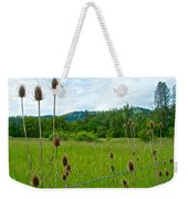 Wild Teasel In Nez Perce National Historical Park-id- Weekender Tote Bag