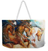 Wild Trio Run Weekender Tote Bag