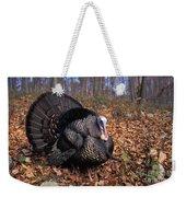 Wild Turkey Displaying Weekender Tote Bag by Len Rue Jr