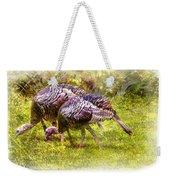 Wild Turkey Hens Weekender Tote Bag by Barry Jones